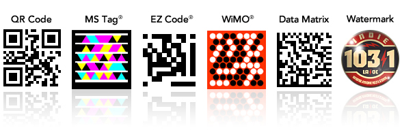 The 6 most popular 2D barcode formats for use in mobile advertising